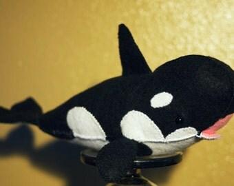 Orca Whale Stuffed Felt Toy **Featured in February 2015 STUFFED Magazine**