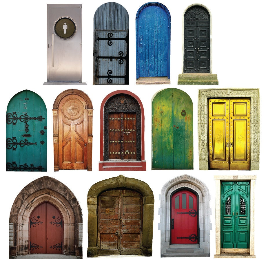 Mini fairy doors collection 13 vinyl wall decals by for Fairy door for wall