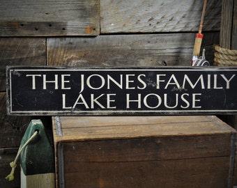 Custom Lake Sign, Lake Sign, Lake House Sign, Lake House Decor, Family Lake Sign, Lake Home Decor, Rustic Sign Custom Wooden Sign ENS1000057