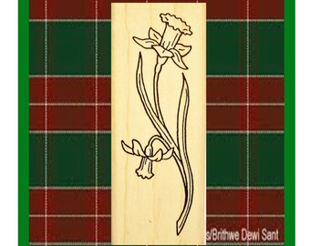 Welsh Daffodil Rubber Stamp Flower Symbol of Wales #448D