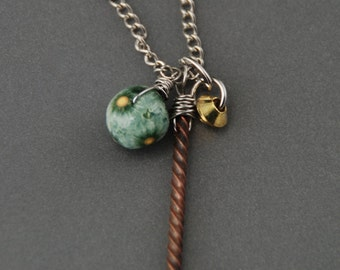 SALE!  45% off!  Three Charm Necklace  -  style 5
