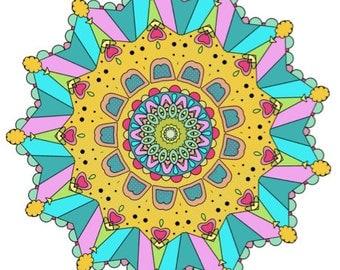 INSTANT DOWNLOAD - Mandala Coloring Sheets Booklet