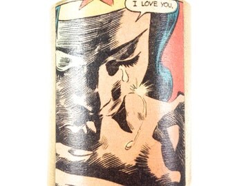 I love You Wonder Woman Cuff Bracelet