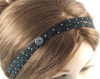 Dotty button hairband by loobyloucrafts