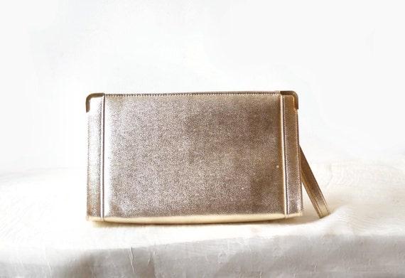 Vintage Ande Gold Clutch Purse, Glam Evening Bag