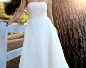 cotton voile lace wedding dress, size 6 or custom