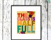 Typography Digital Art Illustration Print Poster - Quote Art - SUNNY SUNNY DAY