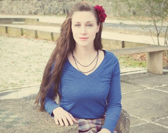 Burgundy Rose Hair Clip, Rose Hair Clip, Pinup Hair Flower, Rockabilly Accessories