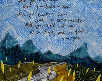 Joni Mitchell Lyrics Blue Motel Room
