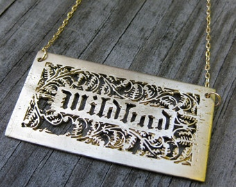 golden WILDBAD brass adjective goldfilled necklace