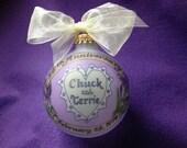 35TH ANNIVERSARY Custom Keepsake Ornament Original Handpainted Personalized Ornament, with free display stand