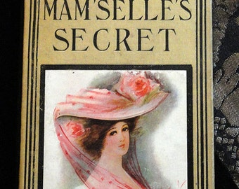 Handbound Artist's Journal Made From Vintage Old Mam'selle's Secrets