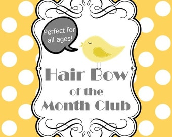 HAIR BOW of the MONTH Club Membership - 6 month