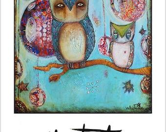 Forest Guardians #2 - Mixed Media Art Print