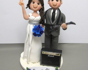 DEPOSIT for Custom made Polymer Clay Wedding Cake Topper Music guitar amp theme