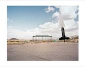 Original Fine Art Photograph / Print / Photography, Atomic Age, Landscape, Vintage, Road Trip, Americana Desert Minimalist Film