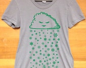 Christmas Sprout  Maternity Tshirt Grey (Made in USA)