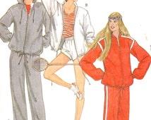Womens jogging Suit pattern 80s Retro athletics Exercise pattern for women vintage sewing pattern jogging suit  McCalls 8320 Sz 16 Uncut