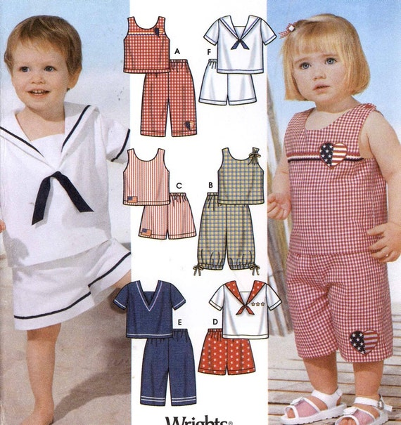 Renaissance Wedding Dress Costume History Mccall S By Heychica: Nautical Sailor Pattern Girls And Boys Toddler Sailor Outfits