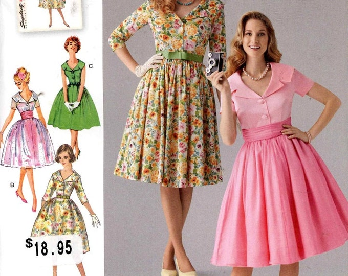 50s Rockabilly pattern Dress and cummerbund Rockabilly bridesmaid dress vintage sewing pattern Simplicity 1459 Sz 16 TO 24 UNCUT