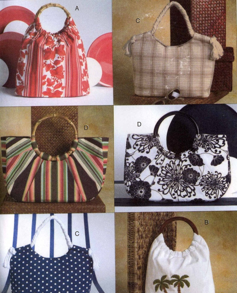 Handbag Sewing Pattern Purse or Knitting bag 4 bags sewing