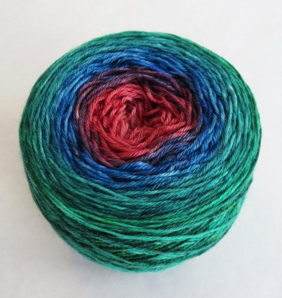Gradient Thrilling Sock Silk Superwash Merino Fingering Color: Rainbow Room