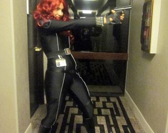Deluxe Black Widow Costume - Iron Man 2 Version