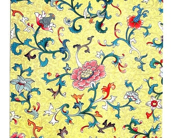 Ancient Chinese Ornament Design - From A Painted China Vase - 1987 Vintage Book Page - 9 x 13