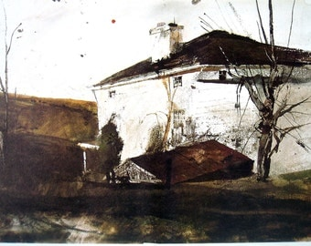1976 Andrew Wyeth Print - Study for Brown Swiss - 10 x 13 Vintage Book Page