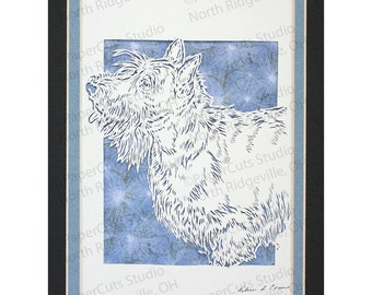 Scottish Terrier Papercutting- Handcut Original *FINAL EDITION*