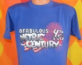 vintage 90s t-shirt fabulous 4th METRIC CENTURY bike cyclist bicycle race tee Large fireworks july