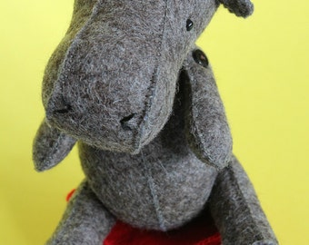 H is for Hippo : completely hand sew sewing pattern