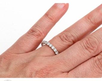1 1/4ct Diamond Eternity Band Wedding Ring Anniversary Band Stacking Ring White Yellow Rose Gold