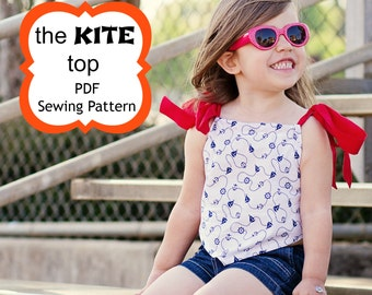 Kite Tank Top Sewing Pattern by Whimsy Couture 6m - 16 girls PDF Instant