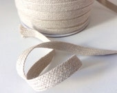 Jute and cotton mix herringbone twill tape, 100 yards, soft twill tape for crafts, weddings, decorations.  Raw natural coloured sewing tape