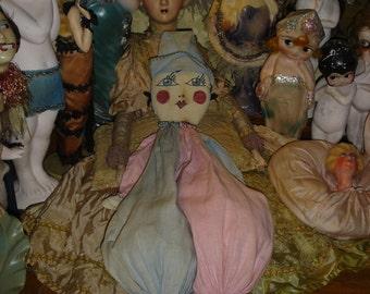 Vintage Doll Lingerie or Clothespin Bag