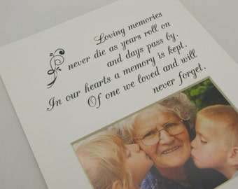 Loving Memories Never Die 8 x 10 Photo Mat Design M104