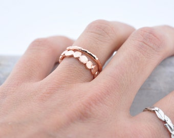 14k Rose Gold Raw Ring   Stacking Ring   Rose Gold Ring
