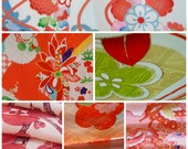 Vintage Kimono Fabric Lucky Dip Pack - Five Medium Size Pieces