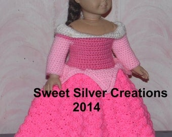 18 inch American Girl Crochet Pattern - Sleeping Beauty