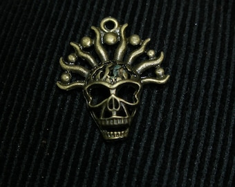 Skulls, gas masks, skeleton charms pendants, (4)  GeekyFreakyUnique-y TeamESST OlympiaEtsy Halloween24/7 SpookyCute, SupportingArtists, WWWG