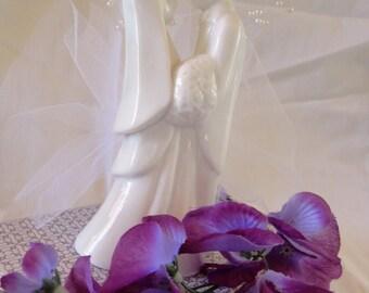 Contemporary Wedding Topper Couple