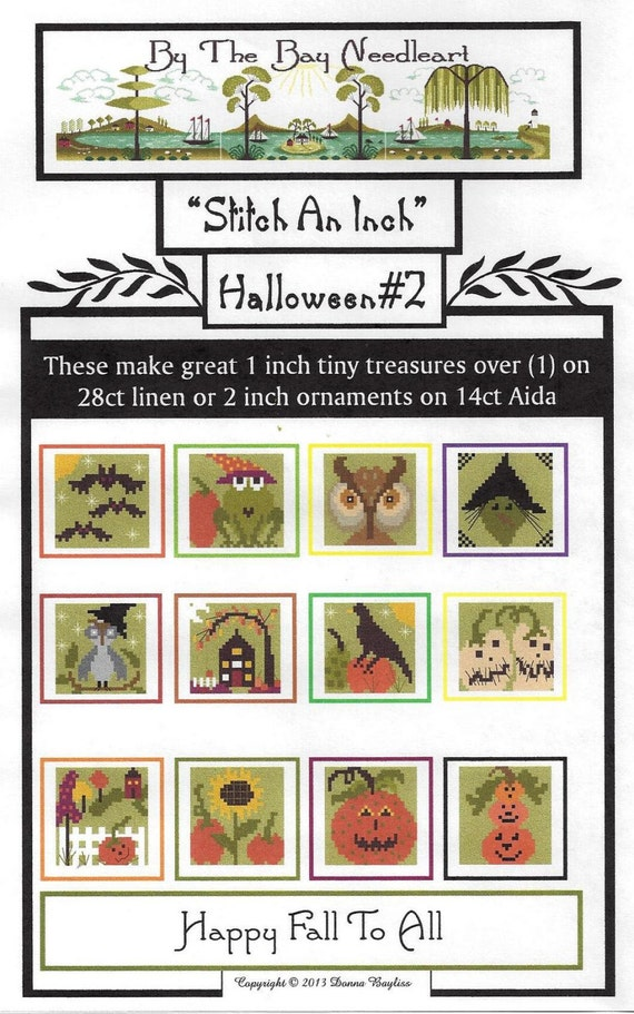 Stitch An Inch Halloween 2  Counted Cross Stitch Pattern