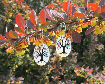 Family Tree Earrings (4 stone maximum for each)