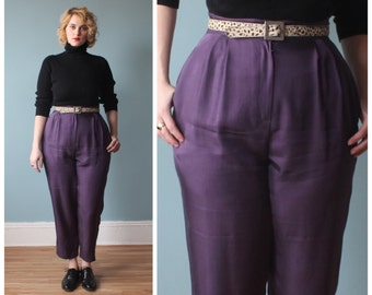 High waisted plus size pants