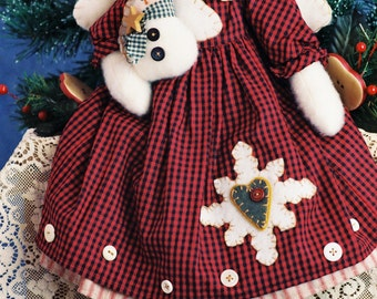 Cloth Doll E-Pattern  Holiday Snow Angel with Baby Epattern