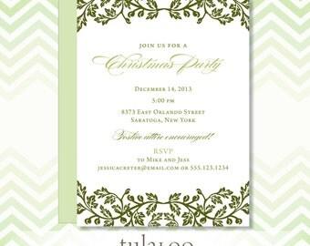 Holiday Holly Party Invitation