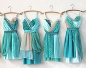 Custom Turquoise Aqua & Teal Bridesmaids Dresses