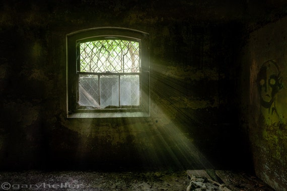 Darkness Revealed, Old Room, in the basement of an Asylum, Abandoned places, Spooky, HDR, Forgotten Places, Signed Print