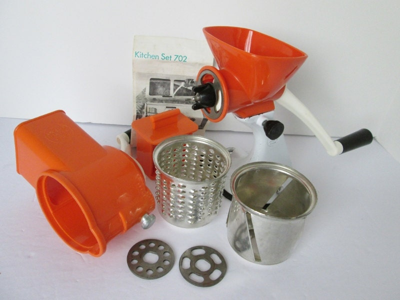 Spong 702 mincer slicer grater kitchen set complete by for Spong kitchen set 702
